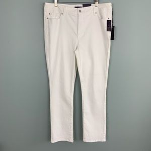 NEW NYDJ White Embellished Pocket Skinny Jeans